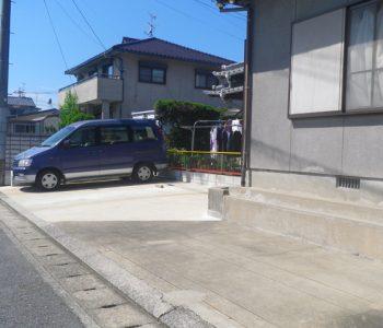 遠賀郡M様邸外構リフォーム庭を駐車場に